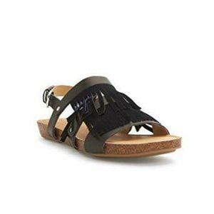 Adam Tucker Leather Nigella Fringe Boho Sandals